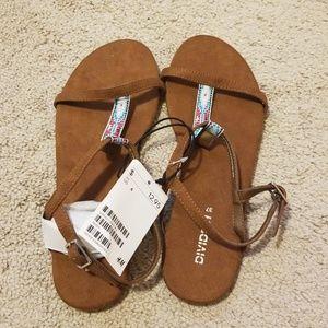 NWT H&M Brown Tribal Sandals